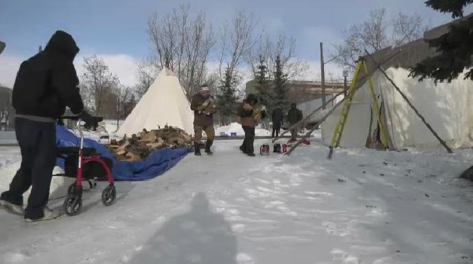 warming tents