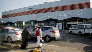The departure terminal of Abha airport in Saudi Arabia, on Aug. 22, 2019. (Amr Nabil / AP)