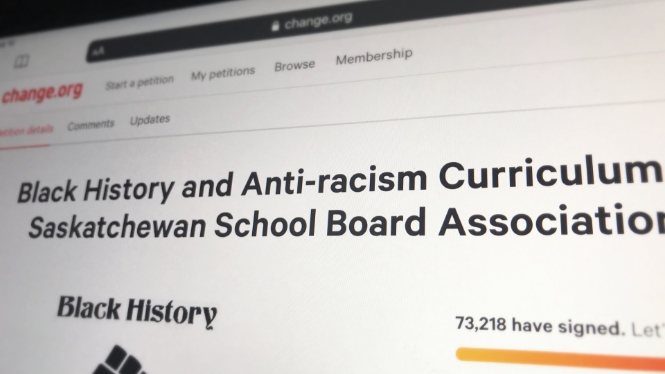 A petition on Change.org has received more than 73,000 signatures, asking the Government of Saskatchewan to include more black history and anti-racism curriculum in schools.