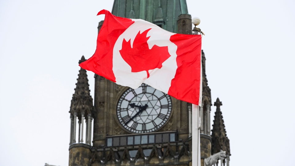 The Peace Tower on Parliament Hill in Ottawa