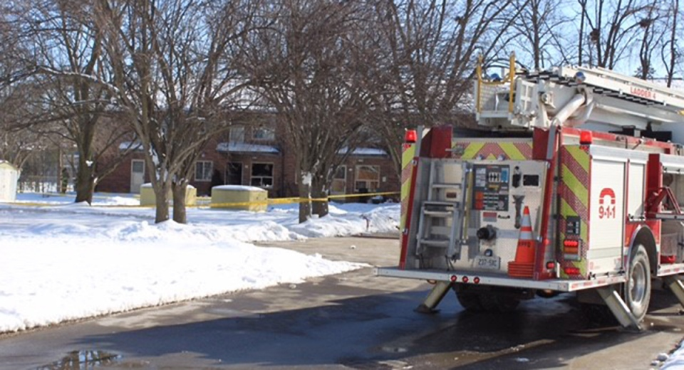 Fire in Mitchell, Ont.