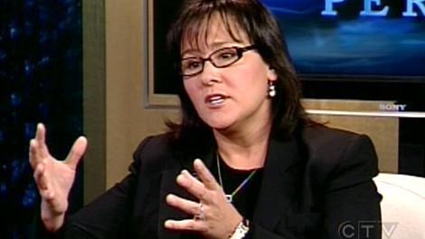 Health Minister Leona Aglukkaq speaks with CTV's Question Period in Ottawa, on Sunday, Nov. 1, 2009.