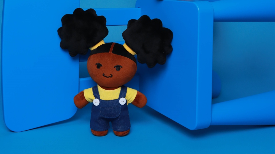 Black girl plush toy