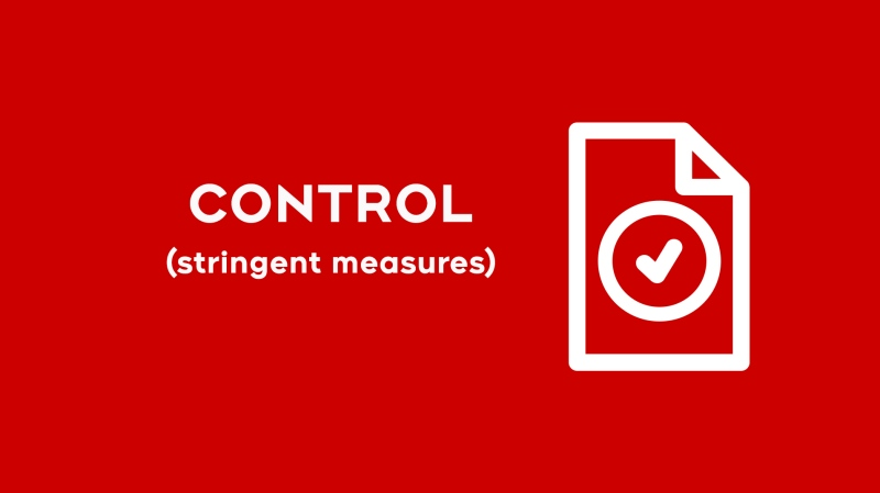 Red-control under COVID-19 response framework