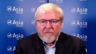 """In an interview with CTV's Question Period, former Australian primer minister Kevin Rudd said Liberal democracies need to work together when China takes action in a """"punitive nature outside the rules of, let's call it, international trade law."""" (CTV)"""