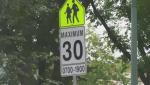 school zone sign 30k/h