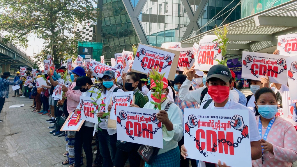 Myanmar rattled by army movements, apparent internet cutoff   CTV News