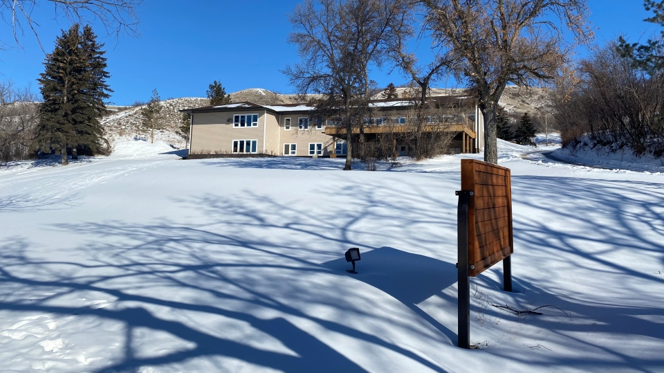 The former Prairie Christian Training Centre in Fort San is pictured. (Colton Wiens/ CTV News Regina)