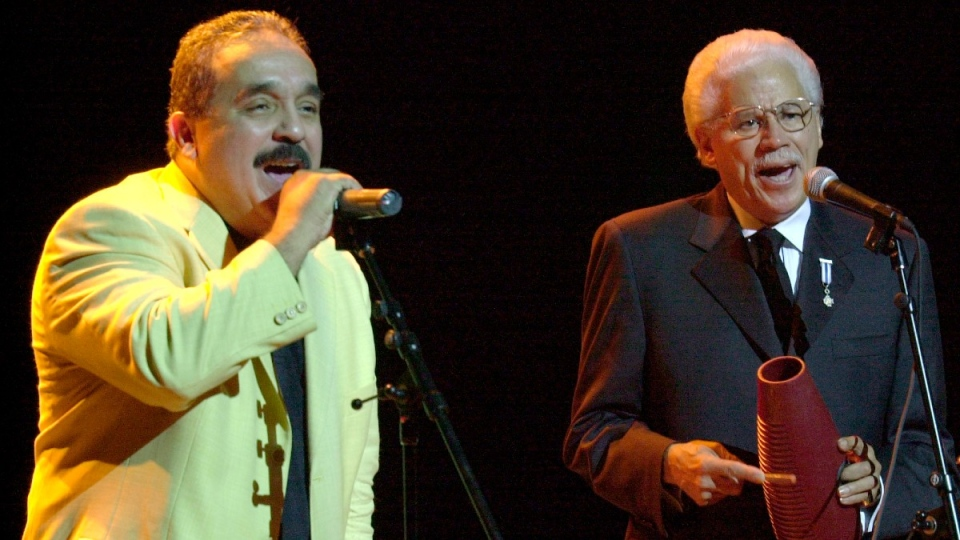 Willie Colon and Johnny Pacheco in 2002