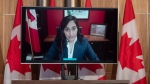 Public Services and Procurement Minister Anita Anand announces a delay to COVID vaccine delivery at the start of a technical briefing on the COVID pandemic in Canada, Friday, January 15, 2021 in Ottawa. THE CANADIAN PRESS/Adrian Wyld