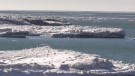 Ice formations on Lake Huron on Feb. 16, 2021. (Scott Miller/CTV London)
