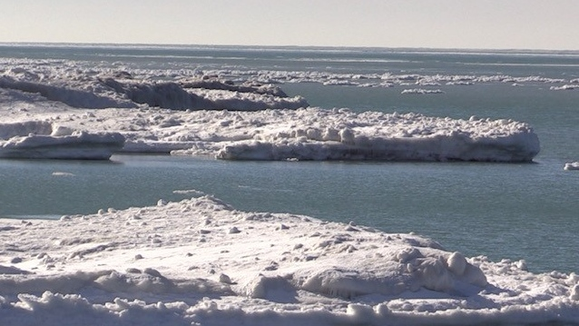 Ice formations on Lake Huron