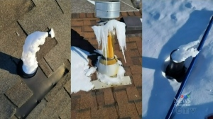 Cold weather has been freezing plumbing vents in Manitoba, leaving homeowners with smelly situation. (Photos source: Tyler Jon New)
