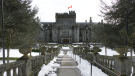 Hatley Castle in Colwood is pictured February 16, 2021: (CTV News)
