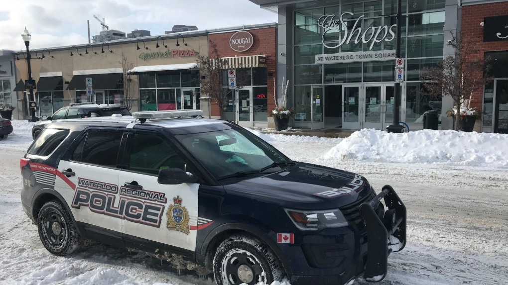 Police in Waterloo Town Square