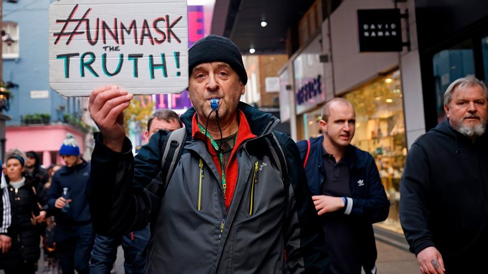 Anti-lockdown protest in London