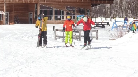 As COVID restrictions lifted, it didn't take long for skiers and snowboarders in Sudbury to make their way over to the slopes at Adanac Ski Hill. Feb. 17/21 (Molly Frommer/CTV News Northern Ontario)