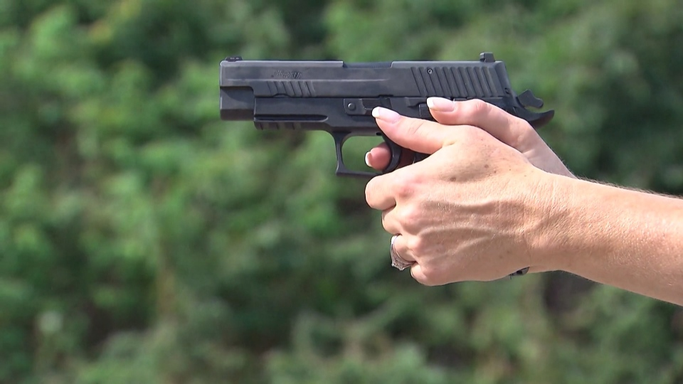 A handgun is used at a shooting range in an undated image. (CTV News file photo)