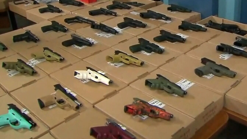 Handguns are pictured in this file photo.