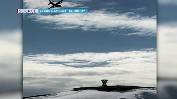 military execise in Sudbury