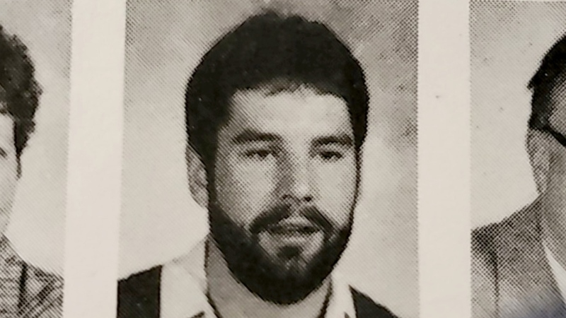 Former Calgary teacher Michael Gregory, seen in the 1989-90 John Ware Junior High School yearbook, who was facing 17 charges of sexual assault and sexual exploitation for incidents alleged to have occurred over several years with six different victims who were students at the time has been found dead. (Supplied)