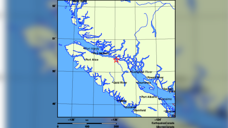 Feb. 17, 2021: (Earthquakes Canada)