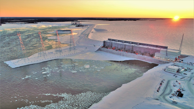 The first unit at the Keeyask Generating Station officially went into operation on Tuesday, Feb. 16. (Supplied: Manitoba Hydro)