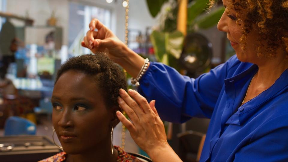 Nancy Falaise, Black hairdressing, Black hair