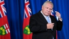 Ontario Premier Doug Ford holds a press conference at Queen's Park during the COVID-19 pandemic in Toronto on Monday, December 21, 2020. THE CANADIAN PRESS/Nathan Denette