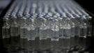 FILE - In this file photo dated Friday, Feb. 12, 2021, Doses of AstraZeneca vaccines for COVID-19 sit in vials at the Fiocruz Foundation after being bottled in Rio de Janeiro, Brazil.(AP Photo/Bruna Prado, FILE)