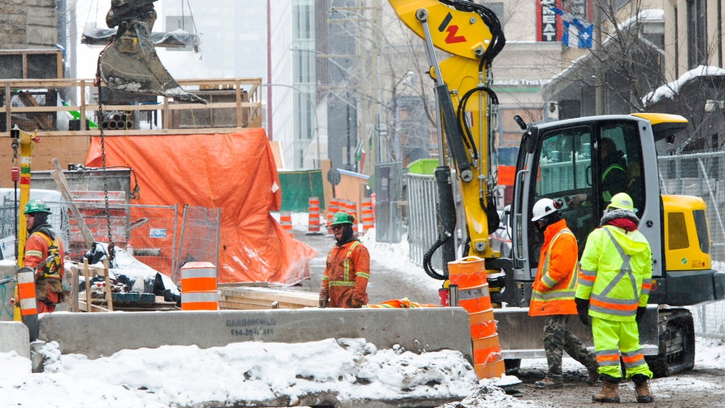 Construction workers in Montreal