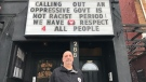 Alex Petro, owner of the Ale House in London, Ont. speaks on Friday, Feb. 19, 2021. (Sean Irvine / CTV News)