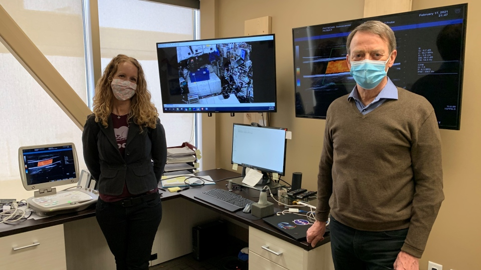 Waterloo researchers doing remote ultrasounds