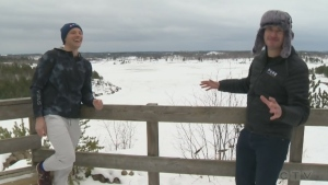 Will and Josh explore outdoor Sudbury activities