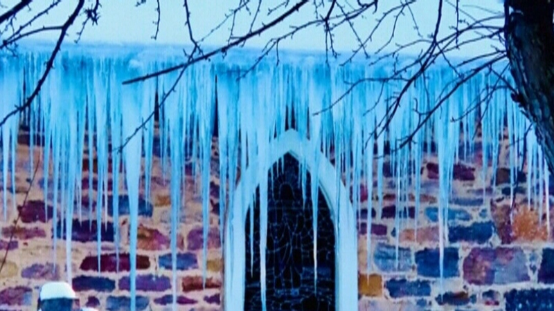 Icicles are a charming sight in winter, but they are also incredible dangerous and should be monitored. SOURCE: Ian Grant