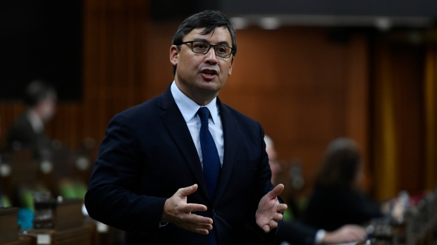 Conservative MP Michael Chong rises during Question Period in the House of Commons on Parliament Hill in Ottawa on Thursday, Dec. 10, 2020. THE CANADIAN PRESS/Justin Tang
