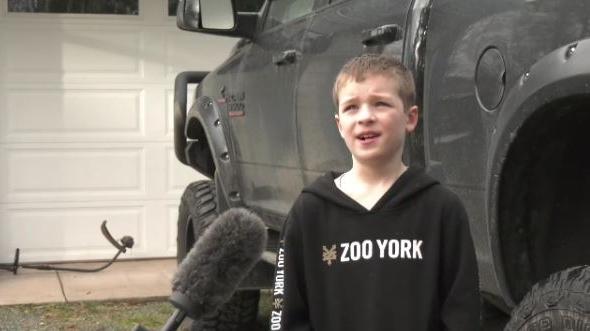 Eight-year-old Wyatt Johnson is pictured: (CTV News)