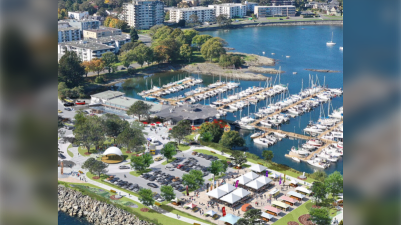An artist's rendering of a redevelopment proposal at the site of the Oak Bay Marina is shown: (District of Oak Bay)