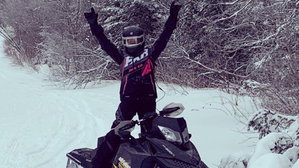 Carol-Ann Maheux loves her sled