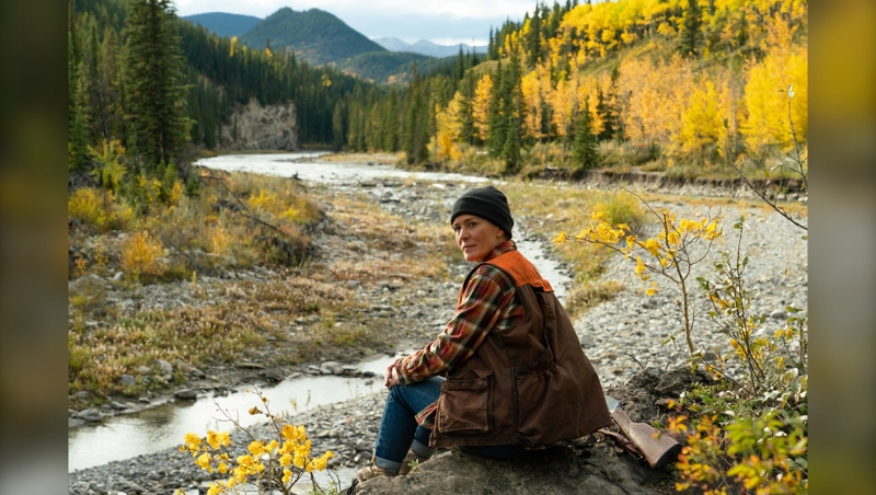Robin Wright directed and starred in Land, which was shot in Kananaskis country in 2019. (Credit: Daniel Power, Focus Features)