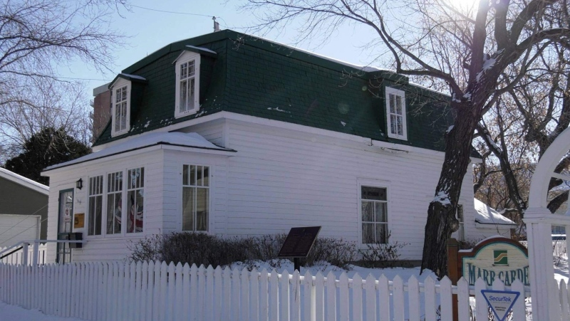 The Marr Residence is Saskatoon's oldest house and is in need of major roof repairs. (Tyler Barrow/CTV News)