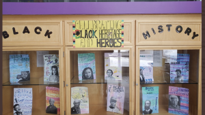 A Black History Month display is seen here at Lexington Public School in Waterloo. (Source: Jenny Brooks).