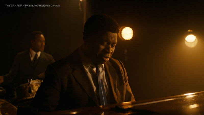 Thompson Egbo-Egbo is seen in his role as Oscar Peterson in a still frame taken from a new Heritage Minute video on the Canadian jazz pianist's life. THE CANADIAN PRESS/HO-Historica Canada, *MANDATORY CREDIT*