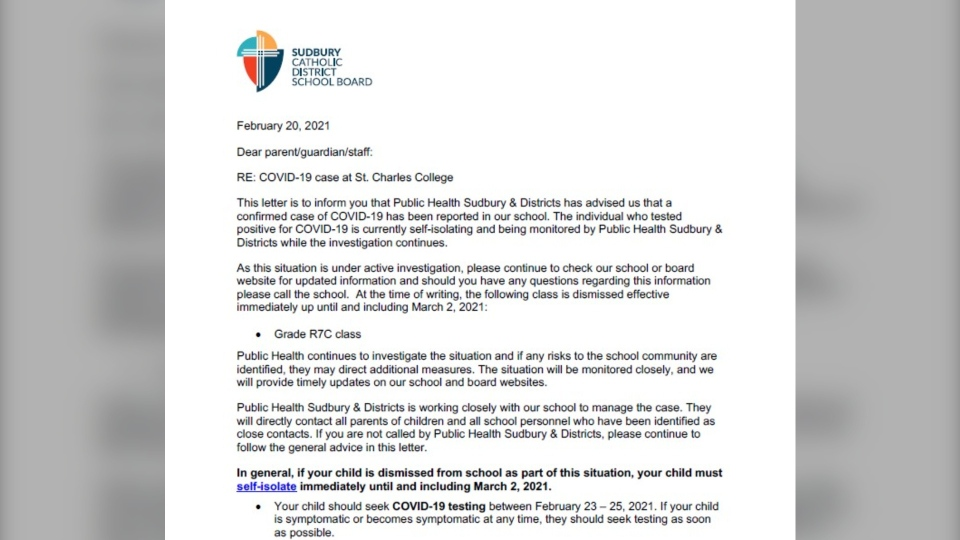 Sudbury Catholic School Board on Feb. 20