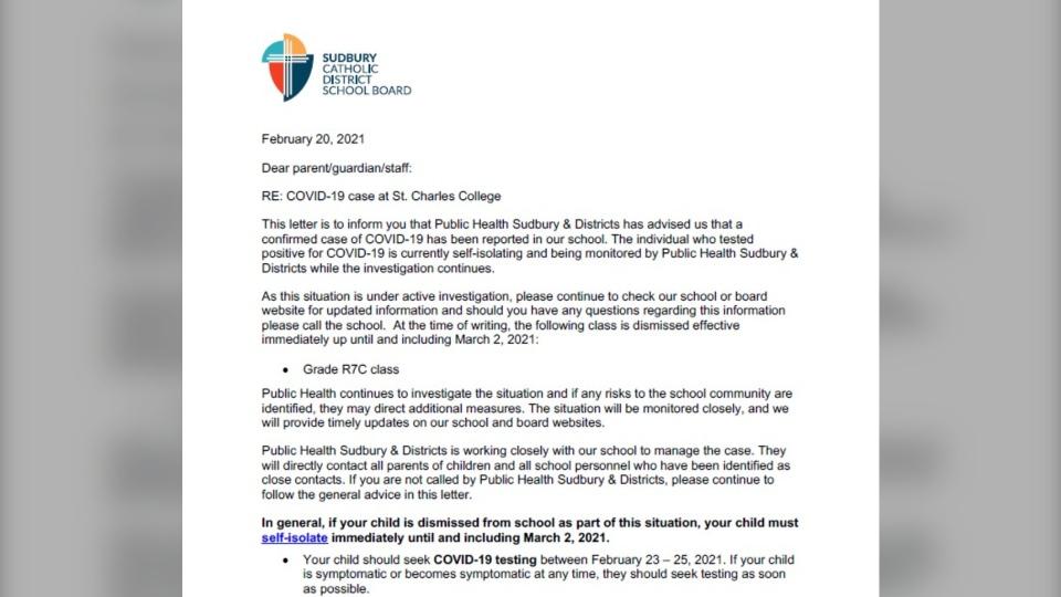 Sudbury Catholic School Board on Feb. 20