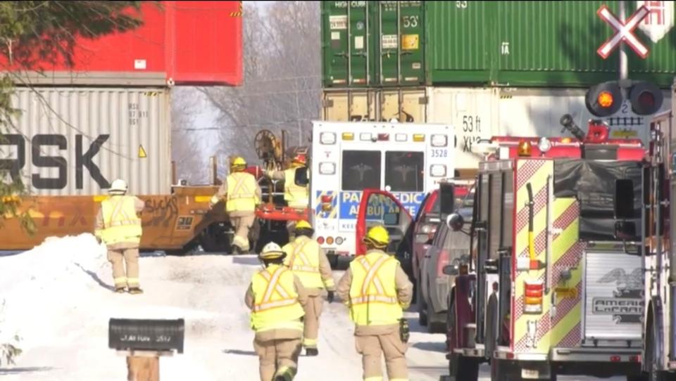 Boy killed by train in Springwater