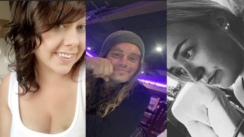Kimberly Davidson, 27, Trevor Pascoe, 31, and Rachael Sorensen, 21.