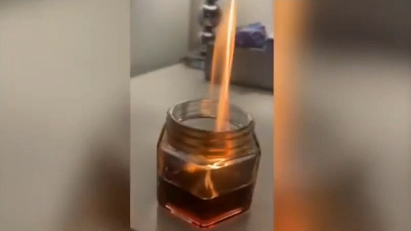 Candle explosion