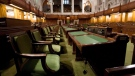 The House of Commons sits empty ahead the resumption of the session on Parliament Hill, in Ottawa on Friday, September 12, 2014. There have long been obstacles in the path of women seeking to succeed in politics, but female MPs are now also coming forward to share their own experiences with sexually inappropriate behaviour -- including on Parliament Hill. THE CANADIAN PRESS/Adrian Wyld