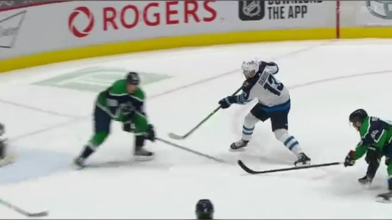 The Winnipeg Jets beat the Vancouver Canucks 4-3 on Feb. 21, 2021.